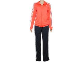 Abrigo Feminino Adidas D89814 Ess 3s Knit Wom Laranja/chumbo - Tamanho Médio