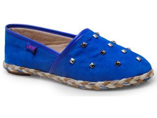 Alpargatas Feminina Liker 160 Azul Royal - Tamanho Médio