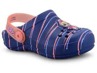 Babuche Fem Infantil Grendene 21891 20502 Lol Playfun Babuch Azul/rosa - Tamanho Médio