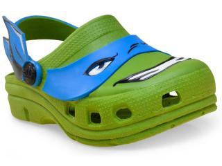 Babuche Masc Infantil Plugt 38.052.007 Tartaruga Ninja Verde - Tamanho Médio