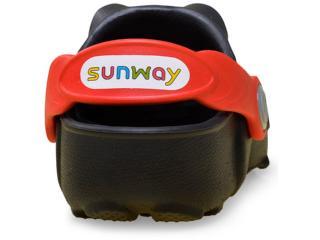 Babuche Sunway 102C5 Pretovermelho Comprar na Loja... fb41ab33ba953