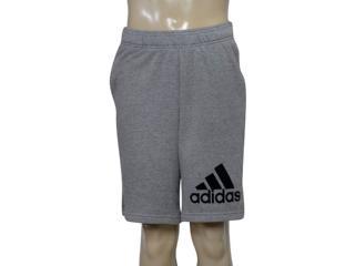 Bermuda Masculina Adidas Br9221 Knit ft Mescla - Tamanho Médio