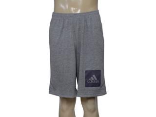 Bermuda Masculina Adidas Bq2355 Short Knit Mescla - Tamanho Médio
