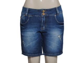 Bermuda Feminina Lado Avesso 89379 Jeans - Tamanho Médio