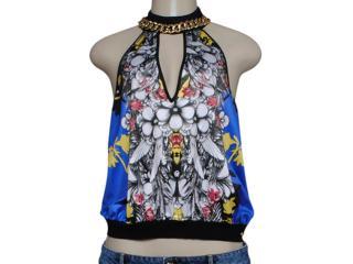 Blusa Feminina Coca-cola Clothing 363203119 Preto/azul/branco - Tamanho Médio