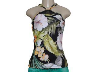 Blusa Feminina Coca-cola Clothing 363203055 Preto Floral - Tamanho Médio
