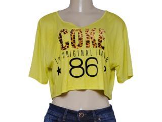 Blusa Feminina Coca-cola Clothing 343201223 Lima - Tamanho Médio