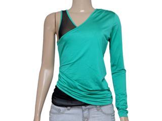 Blusa Feminina Coca-cola Clothing 363202333 Verde Oceano - Tamanho Médio