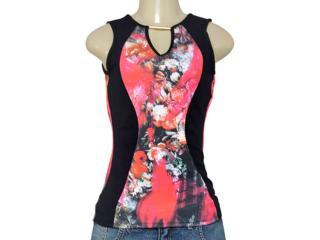 Blusa Feminina Coca-cola Clothing 363203164 Preto Floral - Tamanho Médio