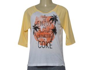 Blusa Masculina Coca-cola Clothing 343201972 Var1 Branco/amarelo - Tamanho Médio