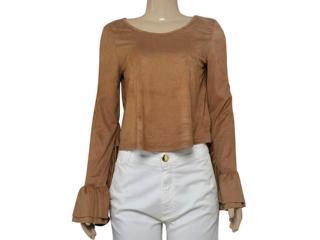 Blusa Feminina Coca-cola Clothing 363203318 Bege Escuro - Tamanho Médio
