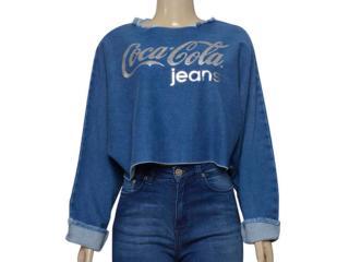 Blusa Feminina Coca-cola Clothing 363203464 Azul - Tamanho Médio