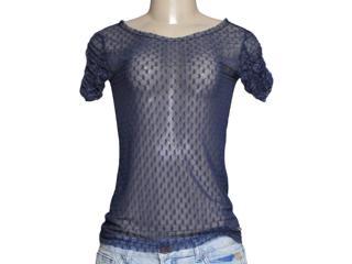 Blusa Feminina Dona Florinda 37940 Azul - Tamanho Médio
