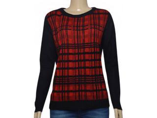 Blusa Feminina Dopping 015655063 Vermelho/preto - Tamanho Médio