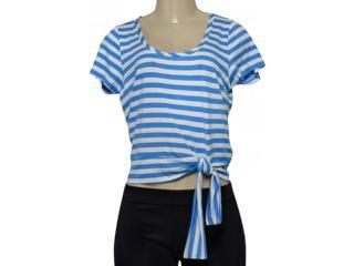 Blusa Feminina Lado Avesso 102463l Azul/branco - Tamanho Médio