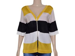 Blusa Feminina Lafort Ryv161534 Amarelo/off White/preto - Tamanho Médio