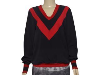 Blusa Feminina Moikana 211100 Preto/vermelho - Tamanho Médio