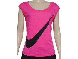 Blusa Feminina Nike 626502-618 Prep Tee-large Swoosh Pink - Tamanho Médio