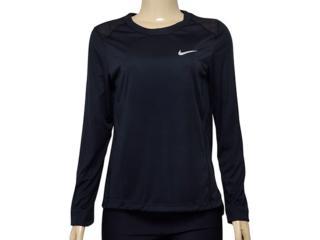 Blusa Feminina Nike 905127-010 w nk Dry Miler Top Preto - Tamanho Médio