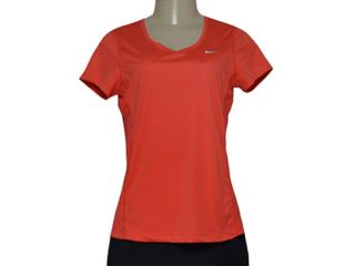 Blusa Feminina Nike 686917-696 Miler V-neck Coral - Tamanho Médio