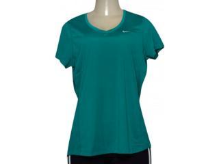 Blusa Feminina Nike 686917-351 Miler V-neck  Verde - Tamanho Médio
