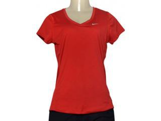 Blusa Feminina Nike 686917-687 Miler V-neck Vermelho - Tamanho Médio