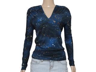 Blusa Feminina Triton 361402144 Estampado Azul - Tamanho Médio