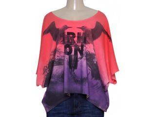 Blusa Feminina Triton  361402324 Coral/roxo - Tamanho Médio