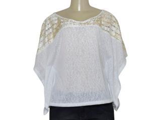 Blusa Feminina Zinco 103063 Branco - Tamanho Médio