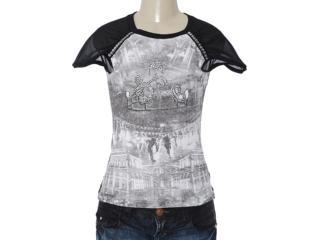 Blusa Feminina Dopping 015653017 Estampado Preto - Tamanho Médio