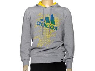 Blusão Masculino Adidas D89096 Hood Perf Mescla - Tamanho Médio