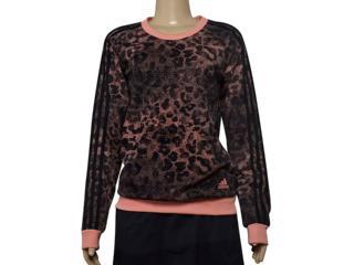 Blusão Feminino Adidas Ce0596 w Ess Aop sw Preto/coral - Tamanho Médio