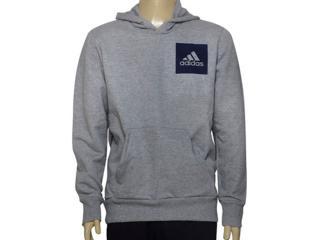 Blusão Masculino Adidas Br6338 Ess Logo Hood  Mescla - Tamanho Médio