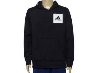 Blusão Masculino Adidas Br6341 Ess Logo Hood Preto - Tamanho Médio