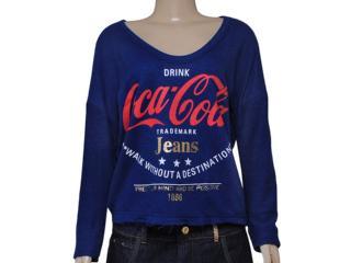 Blusão Feminino Coca-cola Clothing 403200211 Azul - Tamanho Médio