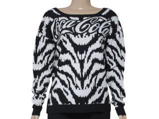 Blusão Feminino Coca-cola Clothing 1403200015 Branco/preto - Tamanho Médio