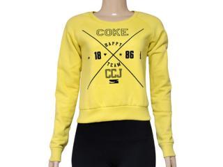 Blusão Feminino Coca-cola Clothing 403200216 Amarelo - Tamanho Médio
