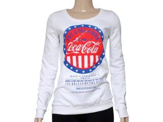 Blusão Feminino Coca-cola Clothing 403200220 Off White - Tamanho Médio