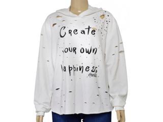 Blusão Feminino Coca-cola Clothing 403200303 Off White - Tamanho Médio