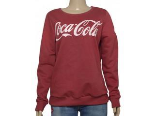 Blusão Feminino Coca-cola Clothing 403200282 Bordo - Tamanho Médio