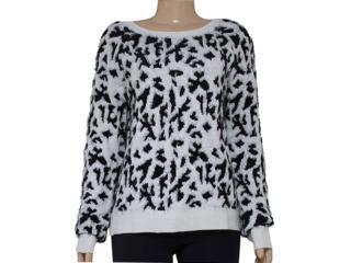 Blusão Feminino Morena Rosa 103878 Branco/preto - Tamanho Médio