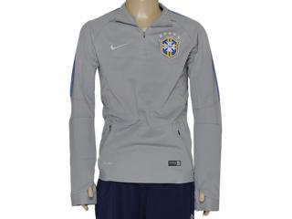 Blusão Masculino Nike 575701-001 Cbf Squad ls Midlayer Cinza - Tamanho Médio