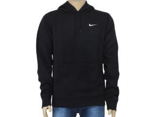 Blusão Masculino Nike 611457-010 Club Hoody-swoosh Preto - Tamanho Médio