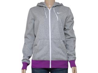 Blusão Feminino Nike 611719-066 Club fz Hoody Swoosh Mescla/roxo - Tamanho Médio