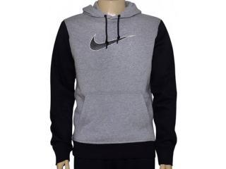 Blusão Masculino Nike 727755-063 Club Fleece Swoosh  Cinza/preto - Tamanho Médio