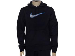Blusão Masculino Nike 727755-010 Club Fleece Swoosh  Preto - Tamanho Médio