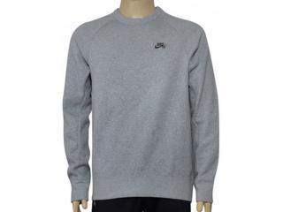 Blusão Masculino Nike  800153-063 sb Icon Crew Fleece Mescla - Tamanho Médio