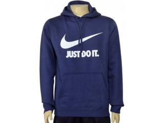 Blusão Masculino Nike 886496-471 m Nsw Hoodie po Azul Escuro - Tamanho Médio