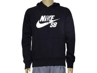 Blusão Masculino Nike 846886-010 sb Icon Pullover Hoodie Preto - Tamanho Médio