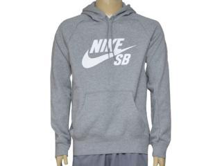 Blusão Masculino Nike 846886-063 sb Icon Pullover Hoodie Cinza - Tamanho Médio
